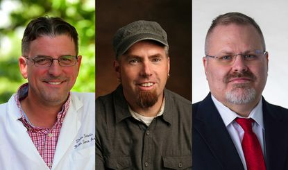 From left, Dana Ferraris, Steven Pearson and Kevin McIntyre were recently appointed to endowed positions in their respective departments at McDaniel College.