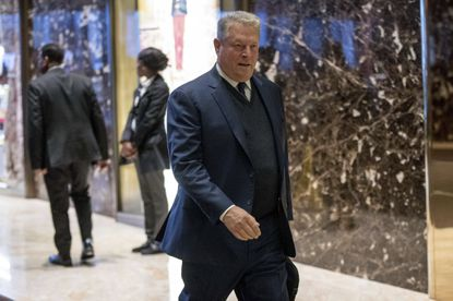 Former Vice President Al Gore arrives at Trump Tower, Monday, Dec. 5, 2016, in New York.
