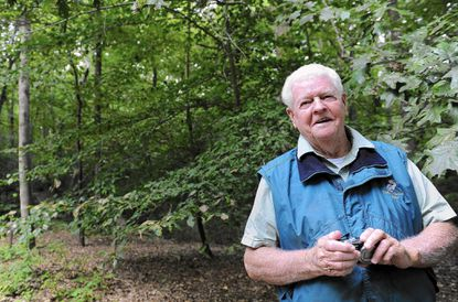 """Guy Willey, of Cambridge, spent nearly 40 years in an effort to increase the population of the Delmarva Fox Squirrel. """"I'm no star at all,"""" he said. """"I was the guy who got all the chiggers and ticks and poison ivy."""""""