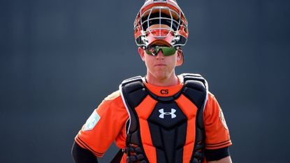 Orioles catcher Chance Sisco at spring training.