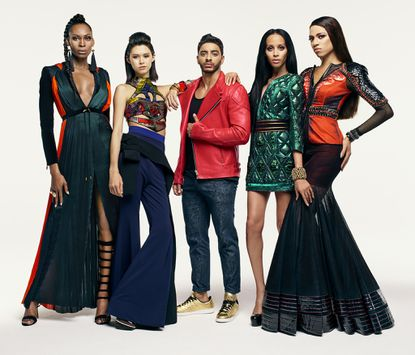 """Isis King, second from right, and the cast of """"Strut,"""" which premieres Sept. 20 on Oxygen."""