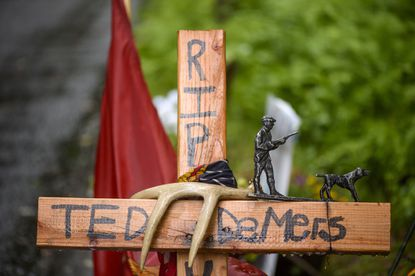 A memorial to Ted DeMers, who was allegedly slain by 23-year-old University of Connecticut senior Peter Manfredonia.