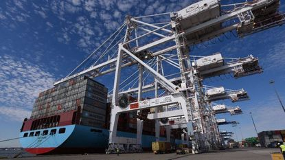 """The port of Baltimore's booming container terminal closed its doors to trucks for more than two hours Thursday afternoon due to an """"ongoing labor job action,"""" according to Ports America Chesapeake, which manages the terminal."""