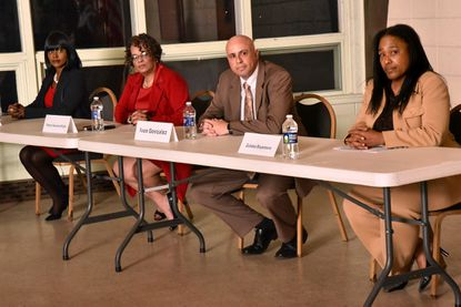Four Republican mayoral candidates, from left, Catalina Byrd, Shannon Wright, Ivan Gonzales and Zulieka Baysmore, at a forum in February.