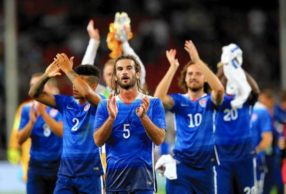 United States midfielder Kyle Beckerman celebrates after an international friendly against Germany in 2015 in Cologne, Germany. Beckerman and his brother Todd will be inducted into the Anne Arundel County Sports Hall of Fame on Wednesday.