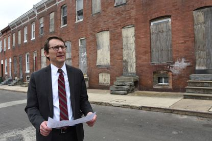 "Baltimore Mayor Bernard C. ""Jack"" Young has fired the city housing commissioner in the midst of a global pandemic that many warn could lead to an eviction crisis. Michael Braverman, whose last day was Friday, is shown in 2019 in East Baltimore."