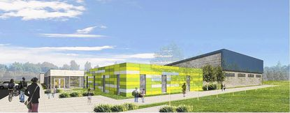 Rendering of proposed People's Community Health Center in Severn.