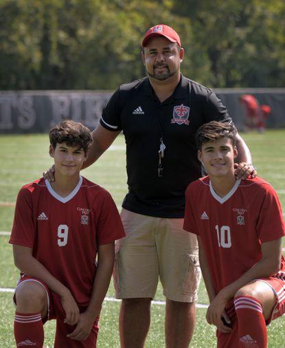 Former Blast star Adauto Neto is coaching his two sons -- freshman Ryan Calheira (9) and senior Taylor Calheira -- for Concordia Prep's boys soccer team.