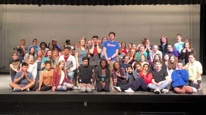 "The cast of Glenelg High School's performance of ""Young Frankenstein."""