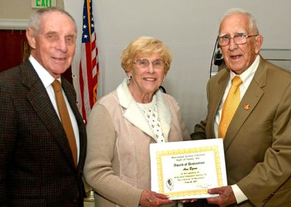 Byrne inducted to Senior Citizens Hall of Fame