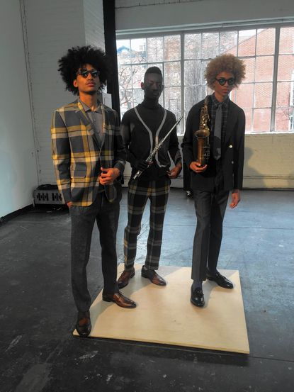 David Hart, a menswear designer from Severna Park, cast exclusively black models in his presentation of his fall/winter 2016 collection.