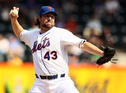 R.A. Dickey and Buck Showalter have a relationship from their time in Texas together, but don't expect the Orioles to complete a deal for the 2012 NL Cy Young Award winner.