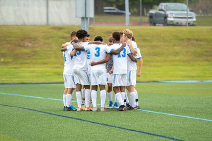 The Harford Community College men's soccer team was back in action Tuesday for the first time in 17 months.