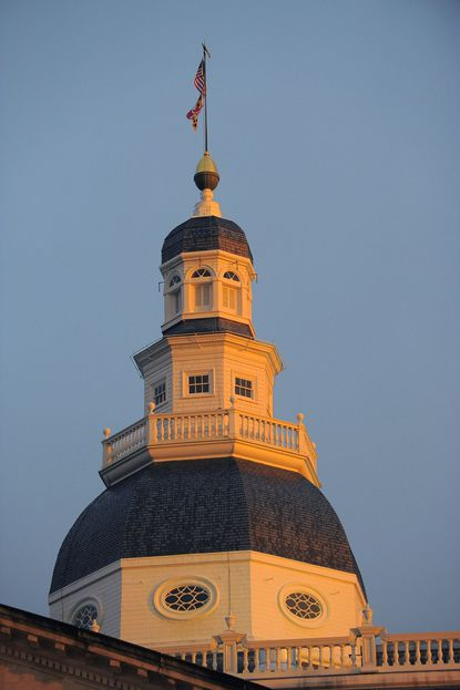 The State House dome in Annapolis.