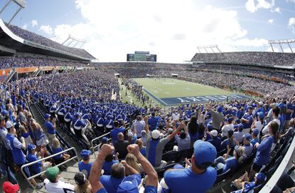 Orlando is hoping to host the Army-Navy game at Camping World Stadium, shown during a college football game involving Kentucky.
