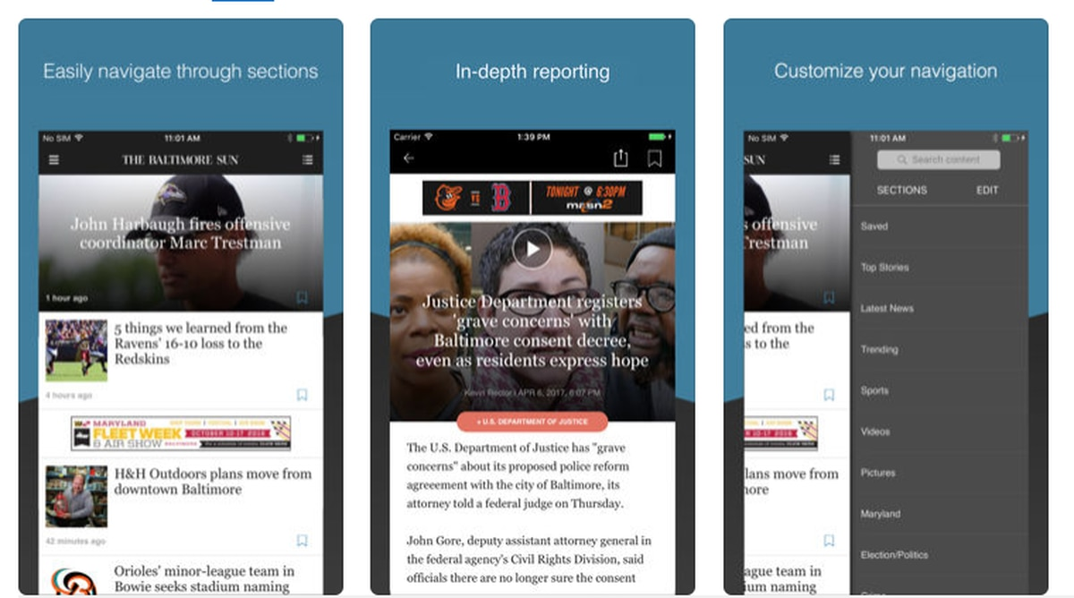 News Reader for iOS and Android - Baltimore Sun