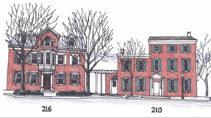 The buildings at 206, 210, and 216 East Main Street, Westminster, form the historic campus of the Historical Society of Carroll County.