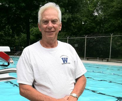 Wiltondale Pool Manager Chad Roeder retired after 41 years and was honored by members of the pool at a ceremony on June 6.