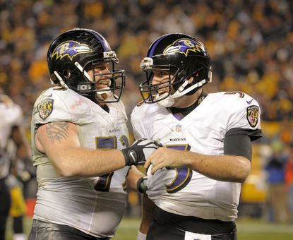 Improved offensive line play gives Joe Flacco chance to beat Steelers