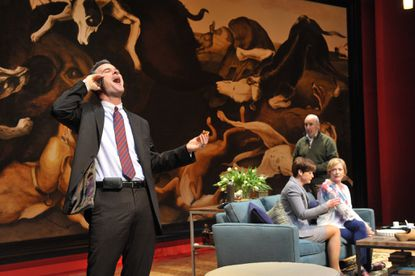 'God of Carnage' at Everyman Theatre with Tim Getman, left