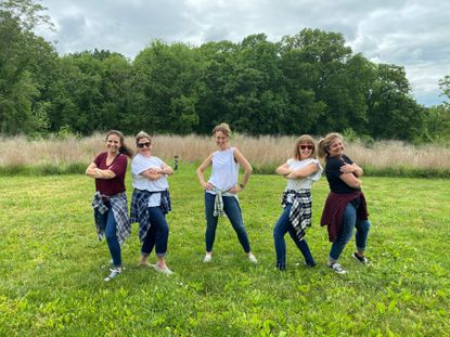 The Socially Distanced Moms of Howard County won a virtual dance competition in Sykesville.