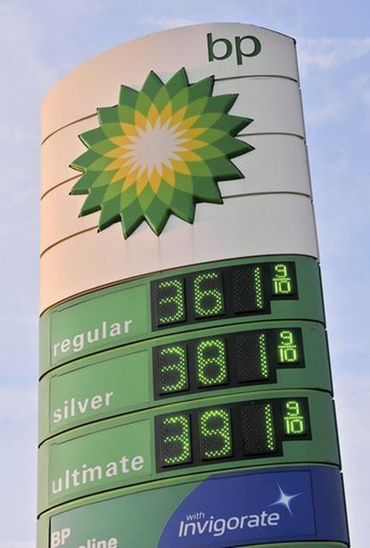 On Tuesday, gas was at $3.61 9/10 for regular unleaded gas and $3.91 9/10 for ultimate unleaded at a BP gas station in the 2200 block of N. Howard St.