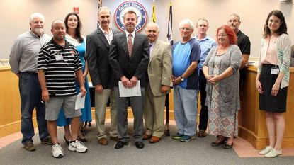 The recipients of the 2018 Environmental Awareness Awards, which are presented biannually by the Board of County Commissioners and Environmental Advisory Council.