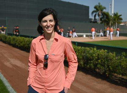 Eve Rosenbaum, pictured Wednesday at the Ed Smith Stadium complex in Sarasota, Fla., is the director of baseball development for the Orioles.