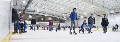 """Home to the Maryland Black Bears, the state's only North American Hockey League junior team, the rink offers figure skating programs, skating lessons, hockey and figure skating camps, and open skate sessions. 8781 Piney Orchard Parkway, Odenton. 410-672-7013.<a href=""""https://www.pineyicerink.com/"""" target=""""_blank"""">pineyicerink.com</a>"""