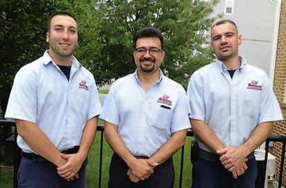 The team at Rainbow International of Northeastern Maryland enhanced its abilities with newly earned certifications. They are, from left, Kevin McShane, Carlos Urgilez and Matt Wheeler.