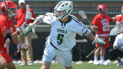 Junior midfielder John Duffy scored three goals in No. 10 Loyola Maryland's 23-9 rout of Boston University on Saturday at Ridley Athletic Complex.