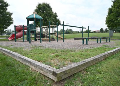 The playground area at Deer Park, seen here on August 16. The county has approved a contract for a new playground facility at the park.