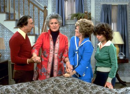 """A scene from """"Maude,"""" featuring Bill Macy, far left, who died on Oct. 17, 2019."""