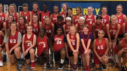 Several dozen middle and high school girls recently took part in the Elite Recruiting Clinic, a college showcase event held by the Maryland Lady Hoopmasters, at Liberty High School in Eldersburg.