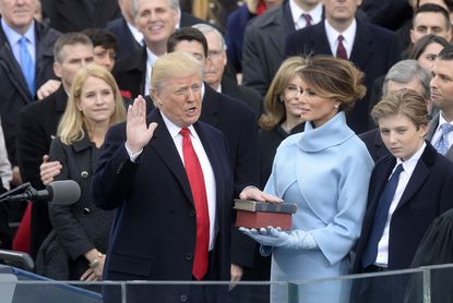 Chief Justice of the United States John G. Roberts, Jr. administers the oath of office to President Donald Trump during the 58th Presidential Inauguration on Jan. 20, 2017, in Washington, D.C.