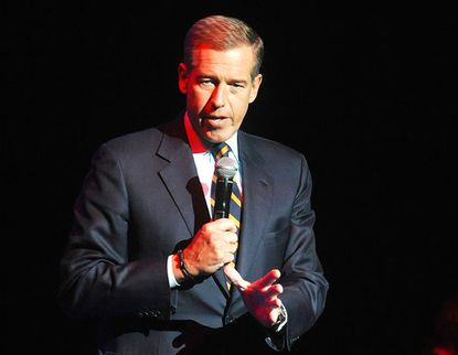 In this Nov. 5, 2014, file photo, Brian Williams speaks at the 8th Annual Stand Up For Heroes, presented by New York Comedy Festival and The Bob Woodruff Foundation in New York. (Photo by Brad Barket/Invision/AP, File)