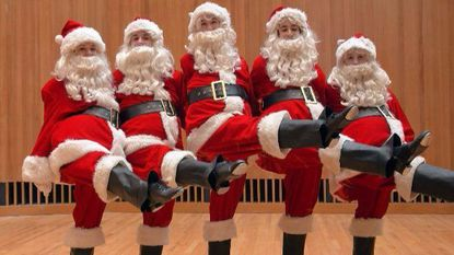 """Tap-dancing Santas will be part of the Baltimore Symphony Orchestra's """"Home for the Holidays"""" celebration, set for Saturday and next Sunday at the Meyerhoff."""