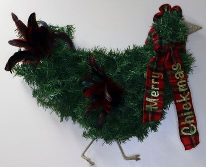 Merry Chickmas, by Wendy Miller, is one of the wreaths on display and up for virtual auction at this year's Festival of Wreaths hosted by Carroll County Arts Council.