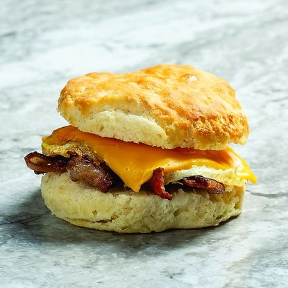 Rise Southern Biscuits & Righteous Chicken breakfast sandwich
