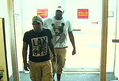 The FBI released this surveillance image from a Baltimore Wells Fargo bank.