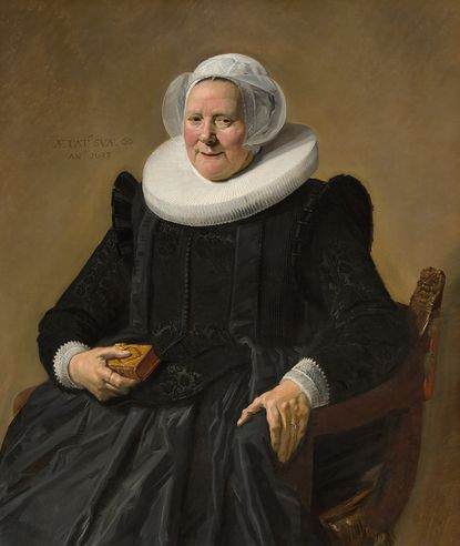 """In an undated image provided by the National Gallery of Art, Frans Hals's """"Portrait of an Elderly Lady,"""" the painting that became Duchess Goldblatt's Twitter avatar. """"Becoming Duchess Goldblatt"""" is a memoir by the writer behind a beloved fictional character whose fans include Lyle Lovett and Celeste Ng."""