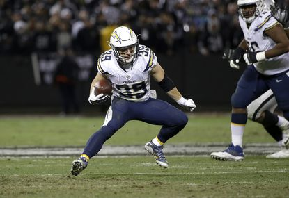 San Diego Chargers running back Danny Woodhead against the Oakland Raiders during an NFL football game in Oakland, Calif., Thursday, Dec. 24, 2015.
