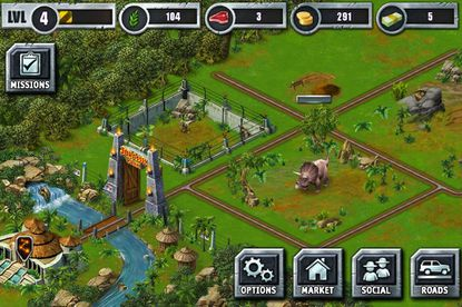 """Amateur paleontologists can retry the disastrous endeavor of creating a dinosaur park in the excellent """"Jurassic Park Builder"""" mobile gaming app."""