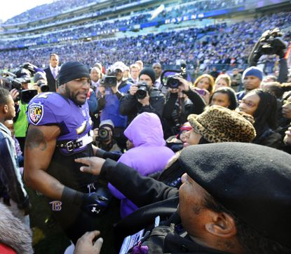 Ray Lewis before his last home game at M&T Bank Stadium.