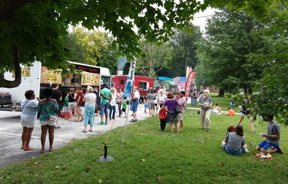 Ascension Lutheran Church on York Road in Towson hosts five or six food trucks from 5 to 8 p.m. Wednesday nights during the summer.
