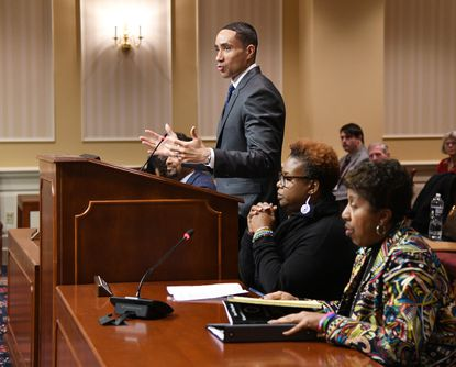 State Senator Will Smith Jr., from district 20, is a sponsor of the bill and testifies before the committee. The Maryland Senate Judicial Proceedings Committee held hearings on Senate Bill 531 Discrimination - Definition of Race - Hair Texture and Hairstyles, Tuesday afternoon in their committee chamber.