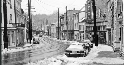 """""""Main Street Ellicott City"""" by Clarence Carvell is one of the pieces featured in the """"The National Road ... A Photographic Journey"""" exhibit, running through March 14 at the Bernice Kish Gallery at Slayton House, 10400 Cross Fox Lane in Wilde Lake Village Center in Columbia."""