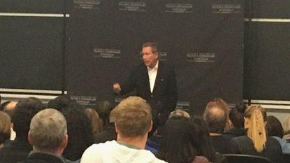 Ohio Gov. John Kasich speaks to students at Johns Hopkins.