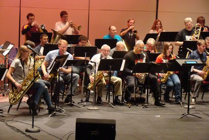 Members of the AACC Big Band performed a program of Jazz classics at Kauffman Theater on Nov. 22.