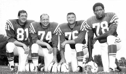 Ordell Braase (left), Billy Ray Smith, Fred Miller and Bubba Smith were the Colts front four in 1968.
